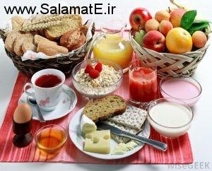 صبحانه سالم دلیل بر افزایش شدید انرژی