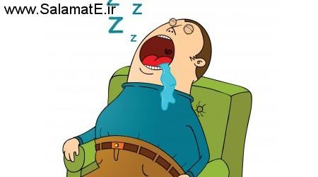 آب دهان موقع خواب